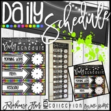 Farmhouse Flair NEON Daily Schedule {Editable}
