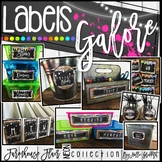 Farmhouse Flair NEON Editable Labels {Library Labels, Supp