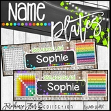 Farmhouse Flair NEON Intermediate Name Plates & Desk Helpers {Editable}
