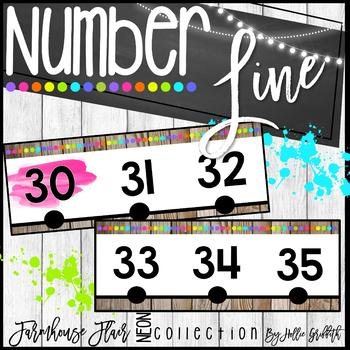 Farmhouse Flair NEON Number Line {-200 to 250}