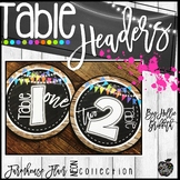 Farmhouse Flair NEON Table Headers FREEBIE
