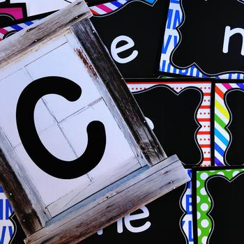 Farmhouse Flair Neon 2 Word Wall {Headers and Sight Words - EDITABLE}