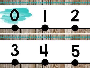 Farmhouse Flair Number Line