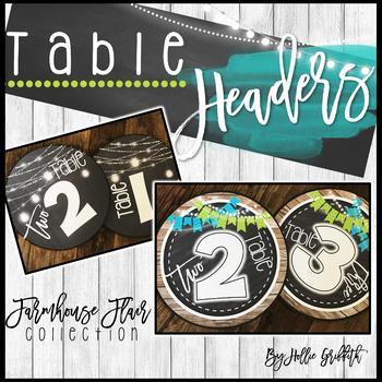 Farmhouse Flair Table Headers {FREEBIE}