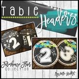 Farmhouse Flair Table Headers {FREEBIE}
