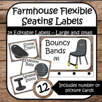 Farmhouse Flexible Seating Labels