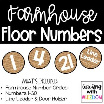 Farmhouse Floor Numbers