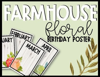Farmhouse Floral Birthday Posters