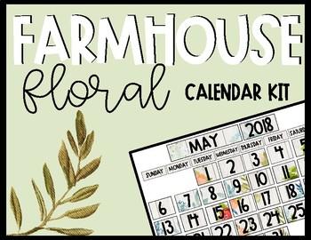 Farmhouse Floral Calendar Kit