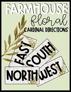 Farmhouse Floral Cardinal Directions