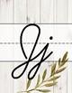 Farmhouse Floral Cursive Alphabet