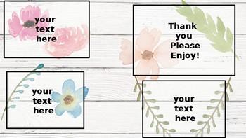 Farmhouse Floral Labels