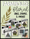 Farmhouse Floral Lines, Shapes, and Angles Posters