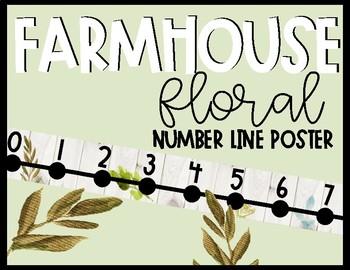 Farmhouse Floral Number Line Poster