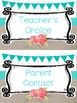 Farmhouse Floral and Teal Behavior Clip Chart. Classroom Management.
