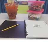 FARMHOUSE Font Teacher Organizer + Gradebook + Planner (20