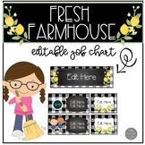 Farmhouse Fresh EDITABLE Classroom Helpers Job Chart