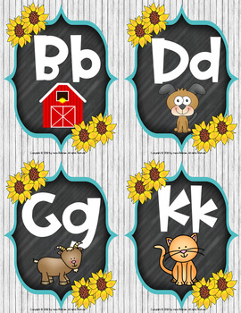 Farmhouse Fun: Alphabet Posters