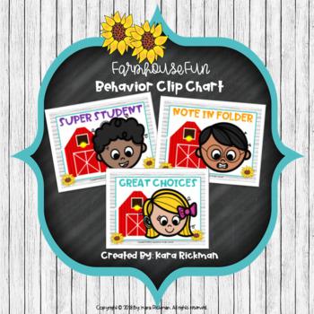 Farmhouse Fun: Behavior Clip Chart