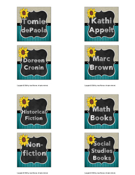 Farmhouse Fun: Library Labels