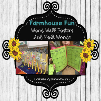 Farmhouse Fun: Word Wall and Sight Words