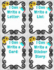 """Farmhouse Fun: Writing Center """"I CAN"""" Posters and Templates"""