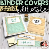 Farmhouse Glam Binder Covers and Spines {EDITABLE}