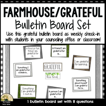 Counseling Farmhouse / Grateful Bulletin Board Set