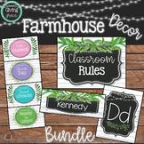 Farmhouse Greenery Classroom Decor Bundle