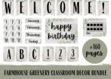 Farmhouse Greenery Classroom Decor & Posters Bundle | Classroom Signs Bundle