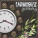 Farmhouse Greenery   Magnolia Theme Clock Helpers