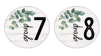 Farmhouse Group Number Labels