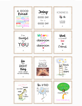 Farmhouse Growth Mindset/Kindness Decor Posters