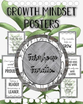 Farmhouse Growth Mindset Posters