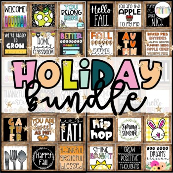 Farmhouse Holiday Decor Posters Bundle