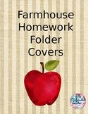 Farmhouse Homework Folder Covers