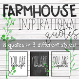 "Farmhouse Inspirational ""You Are"" Posters"