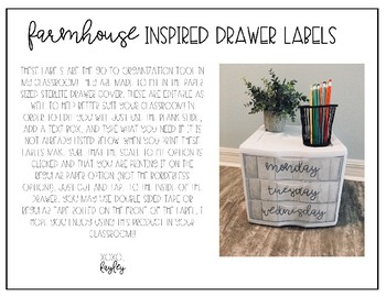 Farmhouse Inspired Drawer Labels