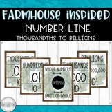 Farmhouse Inspired Number Line