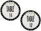 Farmhouse Inspired Polka Dot/Shiplap/Magnolias Table Numbers Circles 1-12