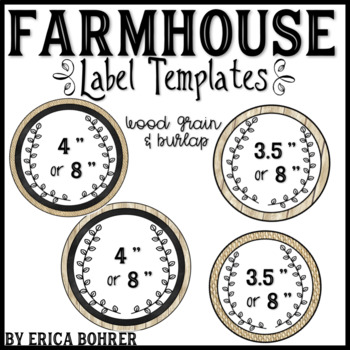 Farmhouse Label Templates