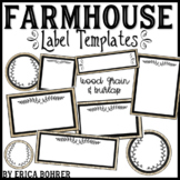 Farmhouse Label Templates
