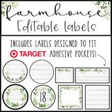 NEW Farmhouse Labels EDITABLE