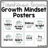 Farmhouse Leaves Growth Mindset Posters