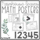 Farmhouse Leaves Math Posters