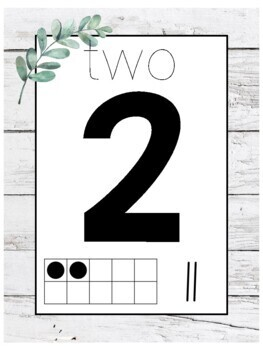 Farmhouse Leaves Number Posters