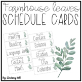 Farmhouse Leaves Schedule Cards