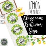 Farmhouse Lemon Behavior Chart Clip Shiplap & Editable