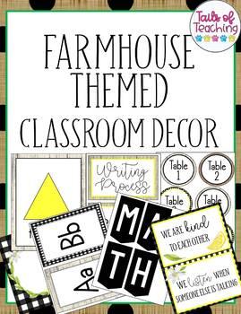 Farmhouse Lemon Classroom Decor