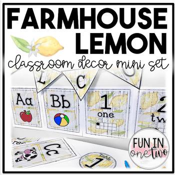 Farmhouse Lemon Classroom Decor ♥ Mini Set ♥ Rustic